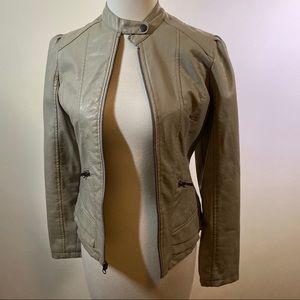 Maralyn & Me Faux Leather Moto Jacket size XS